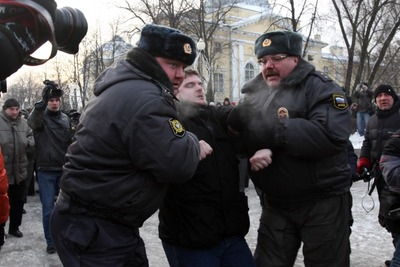 Задержанных на народном сходе в Петербурге приговорили к арестам