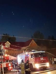 На территории Измайловского кремля в Москве произошел пожар