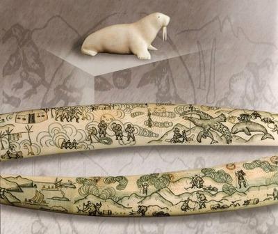 Работы из китового позвонка, клыка моржа и рога горного барана представят российские мастера-косторезы на выставке в Салехарде