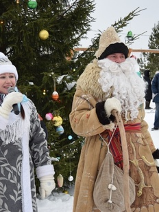 """В заповеднике """"Лудорвай"""" прошел квест с участием удмуртского Деда Мороза Тол Айя"""