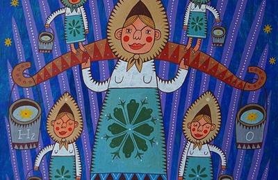 Музей русского лубка перевел выставку картин с женщинами в кокошниках в онлайн-формат