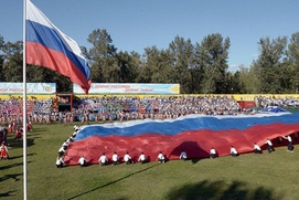 Столетие единения Тувы с Россией отметили национальной борьбой и свадьбой