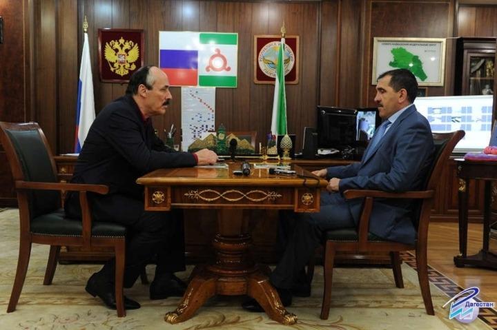 Евкуров и Абдулатипов встретились в Ингушетии и похвалили друг друга