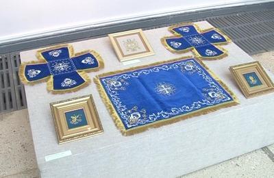 Золотное шитье из Торжка привезли в Тверь