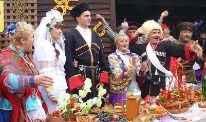 На Ставрополье зарегистрировали брак по казачьим традициям