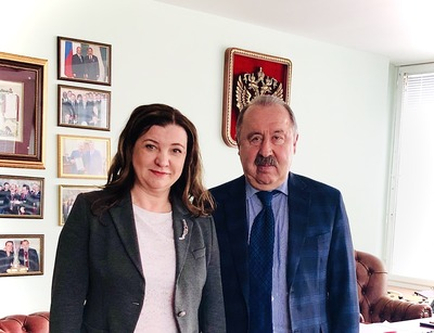 Валерий Газзаев встретился с руководителем Гильдии межэтнической журналистики
