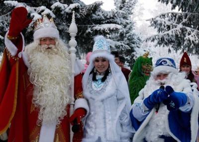 Русский Дед Мороз пришёл в гости к Кыш-Бабаю