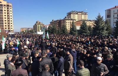 В Ингушетии протестующие объявили митинг бессрочным