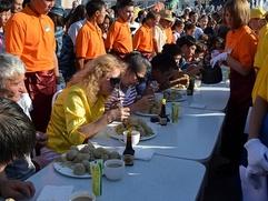 В Бурятии прошел чемпионат по скоростному поеданию бууз