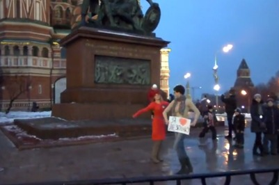 "На Красной площади прошла акция ""Русские за лезгинку"""