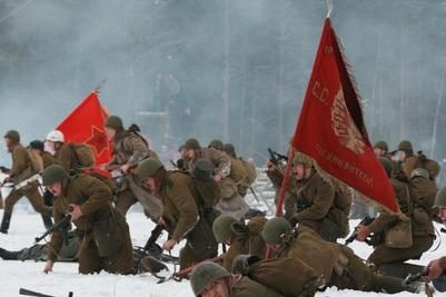 Казаки реконструировали битву под Ростовом времен Великой Отечественной войны