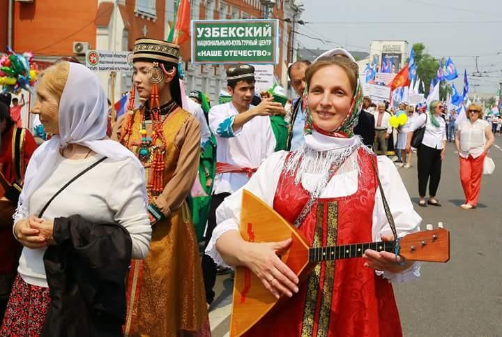 Парад дружбы народов России прошел в 11 регионах
