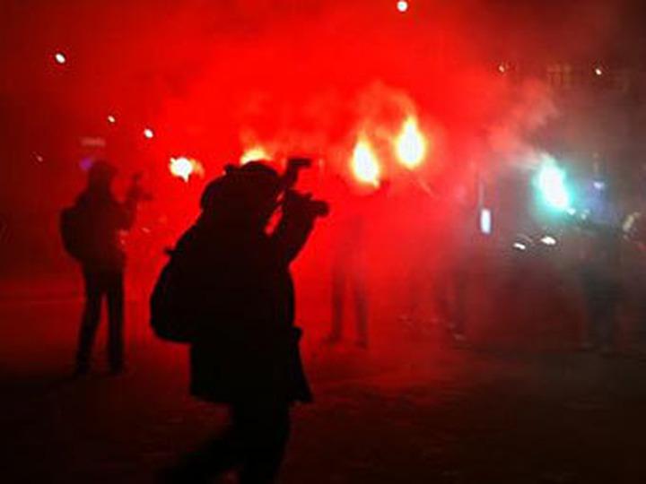 Антифашисты перекрыли Садовое в знак солидарности с осужденными и находящимися под следствием товарищами