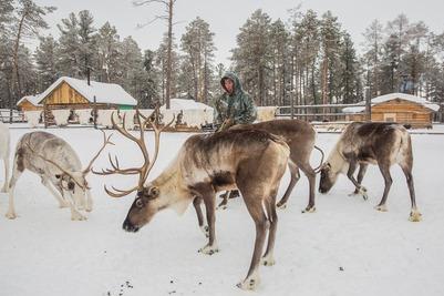 Российские аборигены отправились на учебу в Международный центр оленеводства
