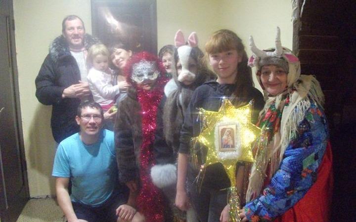 В татарстанском селе провели обряд святочных колядований