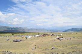 В метании булавы и лазании на кедр посоревновались в День коренных народов в Кош-Агачском районе