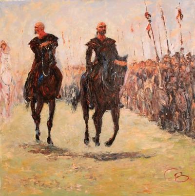 Экс-глава чувашского ФСБ представит выставку своих картин о булгарском народе