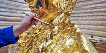"""Как реставрируют фонтан """"Дружба народов"""""""