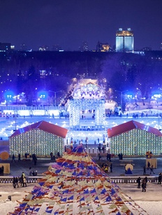 Пятиметровый валенок сожгут в московском Парке Горького на Масленицу