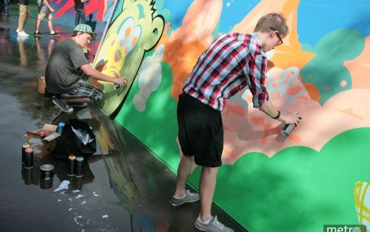 Молодежный конкурс граффити посвятили году культуры в России