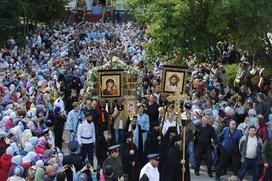 День Успения Божией Матери в Псково-Печерском монастыре