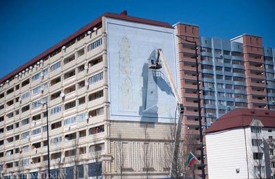 Дома в Грозном украсят 3D-граффити с изображениями национальных артефактов