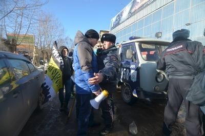 В Сыктывкаре митинг националистов закончился потасовкой с полицией
