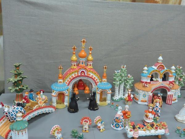 Картинки дымковская деревня