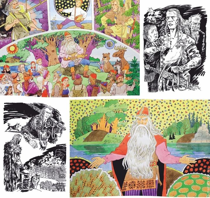"""Иллюстрации к эпосу """"Калевала"""" представили на выставке в Петрозаводске"""