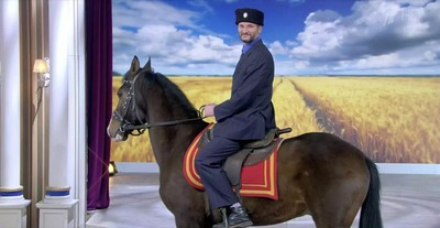 """На шоу """"Давай поженимся"""" приехал казак на коне"""