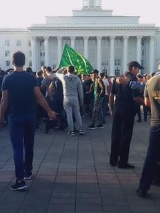 В Нальчике задержали участников митинга, возмущенных столкновением в селе Кенделен