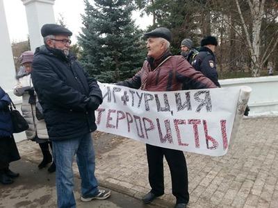 Главу Общества русской культуры Татарстана заменили на антитурецком пикете