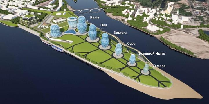 В Самаре могут построить новую набережную с 8 зданиями-матрешками