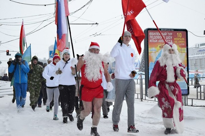 """Россияне 1 января нового года выйдут на """"Русские пробежки"""""""