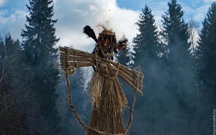 Чучело Масленицы сожгут в 10 парках Москвы