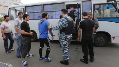 Полиция задержала в центре Москвы 460 нелегалов
