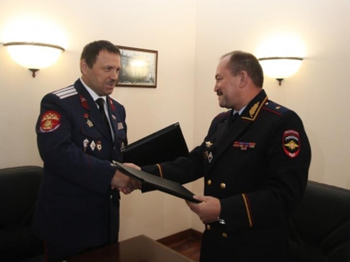 Полиция Тульской области договорилась о сотрудничестве с казаками