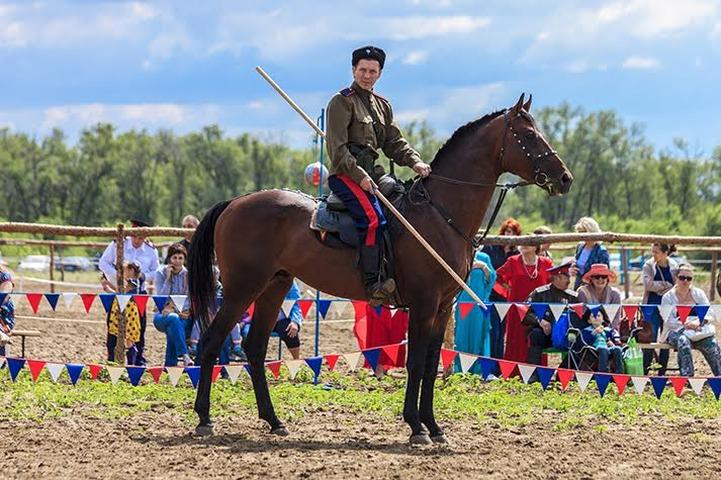 В Волгограде впервые прошли соревнования по казачьей джигитовке