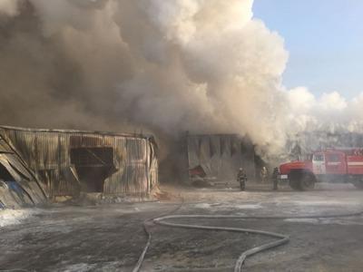 В пожаре на фабрике под Новосибирском погибли 9 мигрантов и 1 россиянин