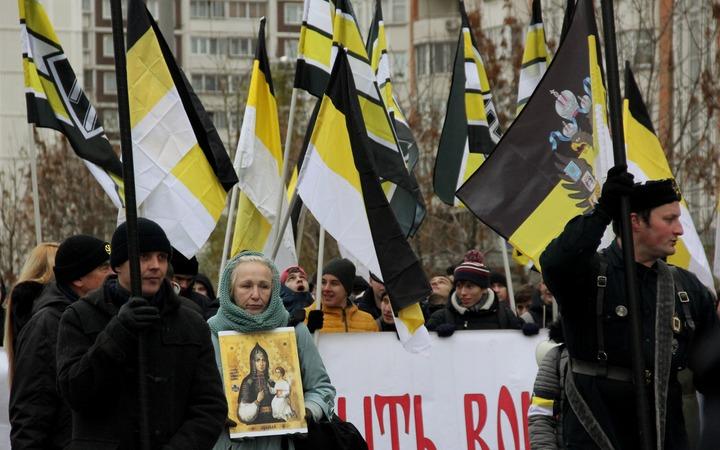 """Около 400 человек приняли участие в """"Русских маршах"""" в Москве"""