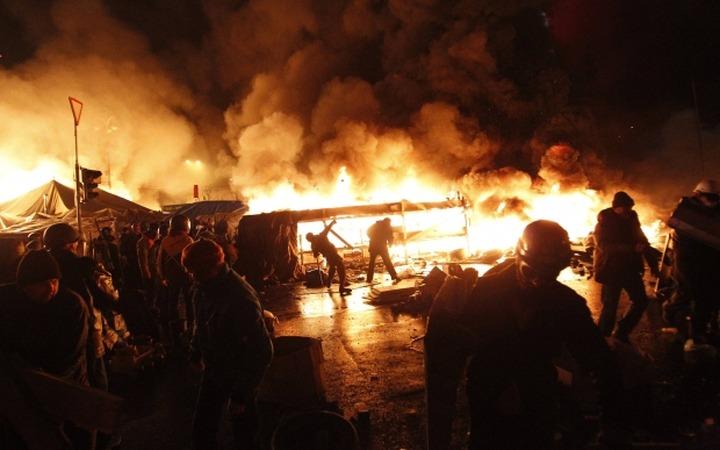 """Националисты из """"Русского легиона"""" приняли участие в обороне Майдана"""