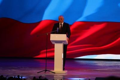 Магомедсалам Магомедов выступил на юбилее Республики Дагестан