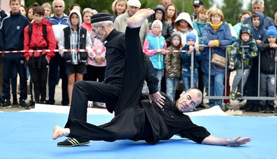 """Ингушскую борьбу """"Шод сан лат"""" впервые представили на Фестивале неолимпийских видов спорта в Коми"""