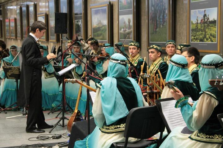 Концерт башкирской этномузыки прошел в московском метро