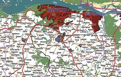 В чувашской библиотеке презентовали карту республики на родном языке