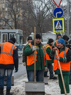 Драка дворников-мигрантов произошла в центре Москвы