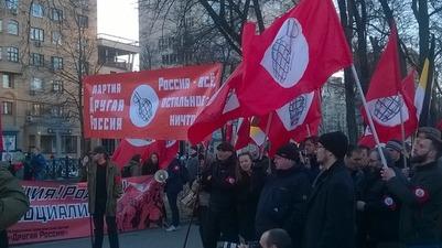 День русской нации отметили в нескольких городах пикетами и митингами