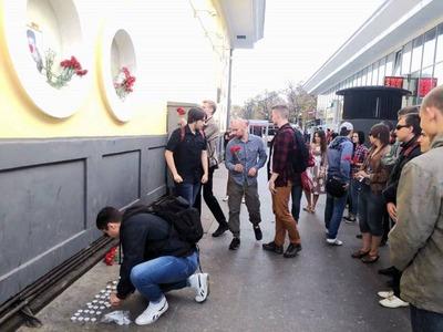 В Москве националисты провели акцию памяти жертв этнопреступности