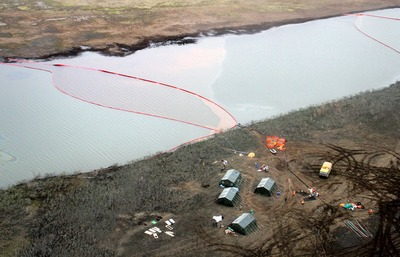 В пробах воды после аварии в Норильске зафиксированы нефтепродукты