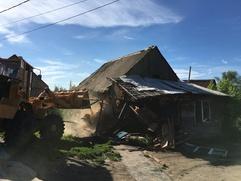 Еще 31 цыганский дом снесли в Плеханове